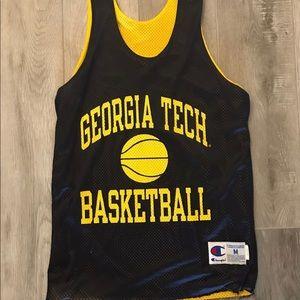 Vtg Champion Georgia Tech Yellow Jackets Jersey